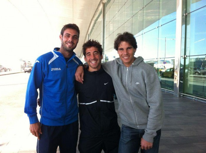 Rafael Nadal, Marc Lopez and Marcel Granollers