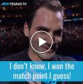 Federer jokes after win over Djokovic