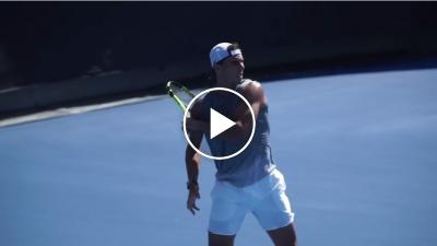 Nadal and Murray practice at the Australian Open