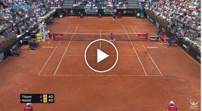 Dominic Thiem vs Rafael Nadal BEST SHOTS