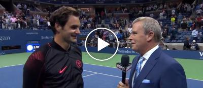 """Roger Federer """"I'm very happy! It was exciting !"""" - Us Open 2017 (HD)"""