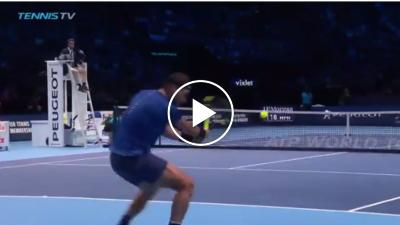 Nadal hits glorious backhand