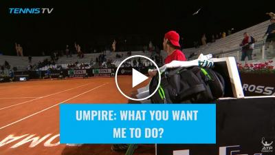 Epic Moment: Lucas Pouille asks umpire to remove bird from court