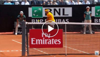 Nadal hits stunning passing shot in Rome Final