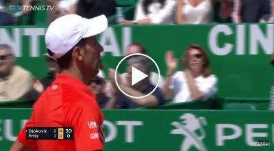 Hot Shot: Djokovic Drops A Stunner In Monte-Carlo 2019