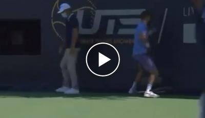 Corentin Moutet became crazy at the Ultimate Tennis Showdown