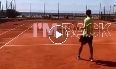 Fabio Fognini returns to the tennis courts after ankle surgery